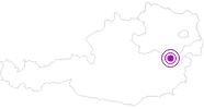 Accommodation Hubertushof in the Vienna Alps in Lower Austria: Position on map