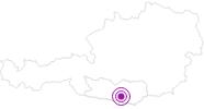 Unterkunft Gästehaus Gudrun in Klagenfurt: Position auf der Karte