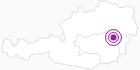Unterkunft Haus Pferscher in der Hochsteiermark: Position auf der Karte