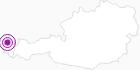 Unterkunft Lankhütte im Bregenzerwald: Position auf der Karte