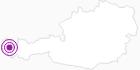 Unterkunft Hotel Gasthof Kreuz in der Alpenregion Bludenz: Position auf der Karte