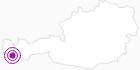 Unterkunft Berggasthof Piz Buin in Montafon: Position auf der Karte