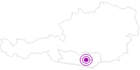 Unterkunft Ferienwohnungen - Haus Berkhout in der Erlebnisregion Hochosterwitz - Kärntenmitte: Position auf der Karte