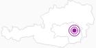 Unterkunft Almhütte Huber in der Oststeiermark: Position auf der Karte