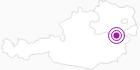 Unterkunft Fewo Zuckerhut in den Wiener Alpen in Niederösterreich: Position auf der Karte