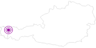 Unterkunft Gästehaus Alois Sarcher im Kleinwalsertal: Position auf der Karte