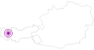 Accommodation Hotel Walserberg in the Naturparkregion Reutte: Position on map