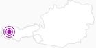 Unterkunft Hotel Walserberg in der Naturparkregion Reutte: Position auf der Karte