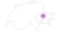 Unterkunft Skigebiet in Arosa: Position auf der Karte