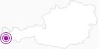 Unterkunft Bohemia Apartments in Montafon: Position auf der Karte