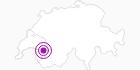 Accommodation Le Relais Alpin Lake Leman: Position on map