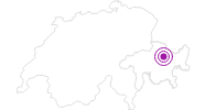 Accommodation Hotel Strela in Davos Klosters: Position on map