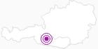 Unterkunft Bauernhof Weichselbraun in Hohe Tauern - die Nationalpark-Region in Kärnten: Position auf der Karte