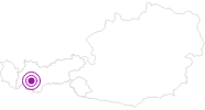 Accommodation Alpenrose in the Tyrolean Oberland: Position on map