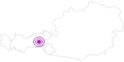 Unterkunft Blockhaus Bergkristall im Zillertal: Position auf der Karte