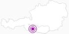 Unterkunft Strohschein´s Almhütt´n im Oberdrautal: Position auf der Karte