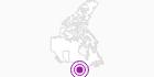 Unterkunft Pocahontas Cabins in den Canadian Rockies: Position auf der Karte