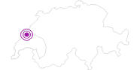 """Unterkunft Chalet """"Nordland"""" in Genferseegebiet: Position auf der Karte"""
