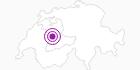 Accommodation Gruebehüttli in the Gantrisch: Position on map