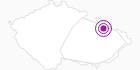 Unterkunft Chata Kopřivná Altvatergebirge: Position auf der Karte