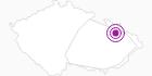 Unterkunft Chata Lucka Altvatergebirge: Position auf der Karte