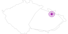 Unterkunft Apartmány Praděd Altvatergebirge: Position auf der Karte