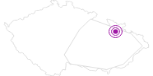 Unterkunft Pod Strání Altvatergebirge: Position auf der Karte