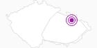 Unterkunft Turisticka ubytovna Ostrizek Altvatergebirge: Position auf der Karte