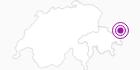 Unterkunft Haus Grüneck / Jaussi in Scuol Samnaun Val Müstair: Position auf der Karte