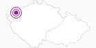Unterkunft Hotel Zelený Dům Erzgebirge Krusne hory: Position auf der Karte
