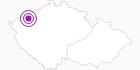 Unterkunft Koliba Satanka Erzgebirge Krusne hory: Position auf der Karte
