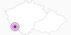 Unterkunft Hanicka im Nationalpark Böhmerwald: Position auf der Karte