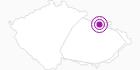 Unterkunft Chata Jiriho na Seraku Altvatergebirge: Position auf der Karte