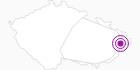 Unterkunft Hotel Penzion na Dolině Tschechische Karpaten: Position auf der Karte