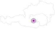 Accommodation Ascof in the Murtal Holiday Region: Position on map