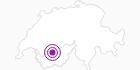 Unterkunft Hôtel Bella Lui in Crans - Montana: Position auf der Karte