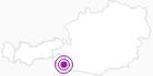 Unterkunft Berg-Quellenhüttn in den Lienzer Dolomiten in Osttirol: Position auf der Karte