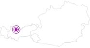 Unterkunft Chalet Sonnenburen in der Tiroler Zugspitz Arena: Position auf der Karte