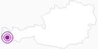 """Unterkunft Landhaus Pfefferkorn """" Silvretta"""" in Montafon: Position auf der Karte"""
