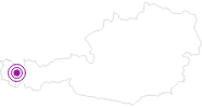 Accommodation Pension Aurikel at the Arlberg: Position on map