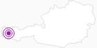 Unterkunft Gästehaus Lavendel am Arlberg: Position auf der Karte