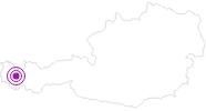 Unterkunft Appartement Birkenhof am Arlberg: Position auf der Karte