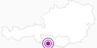 Unterkunft Berggasthof Mösslacher in Hohe Tauern - die Nationalpark-Region in Kärnten: Position auf der Karte