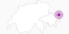 Accommodation TIRANA in Scuol Samnaun Val Müstair: Position on map