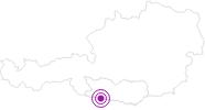 Unterkunft Almhaus Traudi in Nassfeld-Pressegger See - Lesachtal - Weissensee: Position auf der Karte