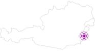 Unterkunft Gruber - Ferienbungalow im Sonnenland Mittelburgenland: Position auf der Karte