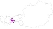 Unterkunft Almhof´s Bauernhof in Stubai: Position auf der Karte