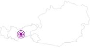 Unterkunft Gästehaus Span in Stubai: Position auf der Karte