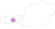 Unterkunft Schulze in Stubai: Position auf der Karte