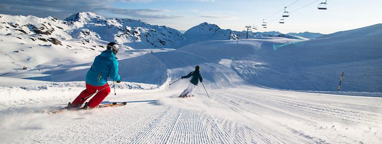 Skifahren ind er Zillertalarena